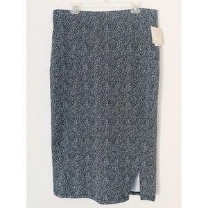 NWT 14th & Union Black & White Size XL Soft Skirt
